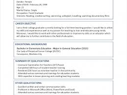Job Resume Sample Fresh Graduate by Sumptuous Design Ideas Resume Sample Format 12 Sample Resume