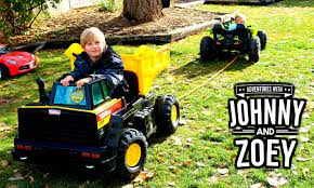 power wheels jeep yellow power wheels tug of war