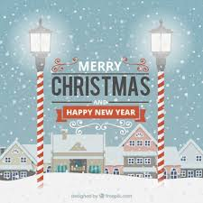 merry and happy new year greetings vector free