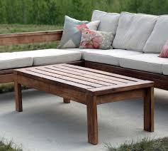 Outdoor Wood Sectional Furniture Plans by Ana White 2x4 Outdoor Coffee Table Diy Projects