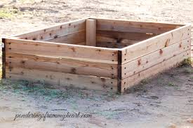 super easy diy raised garden bed boxes ponderings from my heart