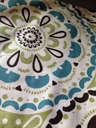 Shower Curtain Blue Brown Target Threshold Green Medallion Fabric Shower Curtain Aqua Brown
