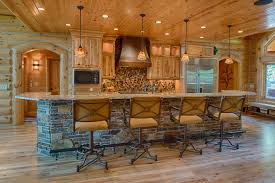 Cool Log Homes Cool Swivel Bar Stools With Backsin Kitchen Rustic With Gorgeous