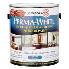 zinsser 1 gal perma white mold and mildew proof satin interior