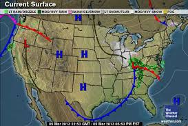 weather fronts map weather and songbird migration primer