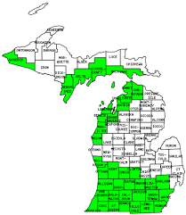 Michigan Map Outline by Michigan Counties Visited With Map Highpoint Capitol And Facts