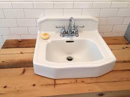 What Are Bathroom Sinks Made Of Diy Bathroom Vanity Made Of Hemlock With Vintage Cast Iron Sink