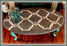 art is beauty quick stenciled coffee table makeover