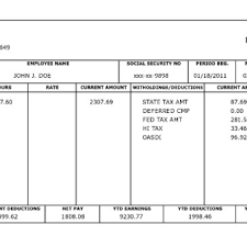 Excel Paystub Template Pay Stub Generator Archives Word Templates