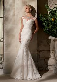 stunning wedding dresses embroidered appliques on net chantilly lace with