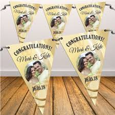 congratulations engagement banner personalised congratulations wedding engagement flag photo bunting