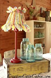 cottage style lamp from a gargae sale find creative cain cabin