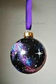 painted glass ornament with berries and by artisancolorado