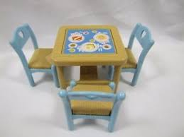 fisher price table chairs fisher price loving family dream dollhouse flip top dining table set