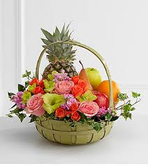 the ftd rest in peace fruit flowers basket