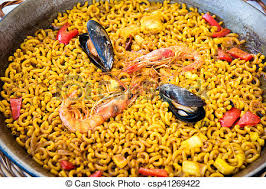 espagne cuisine pâtes cuisine paella fruits mer espagnol fideua nord photo