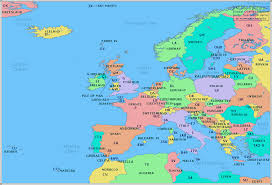 map of europe radio prefix map of europe