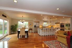 kitchen family room floor plans open floor plan kitchen family room dining room search