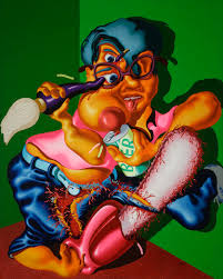 Saul Blind From The Archives Peter Saul U0027s Twisted Allegories Strike A Chord