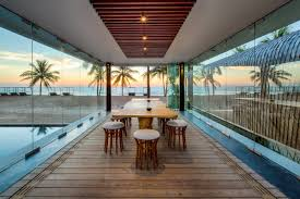 Beach Dining Room by Dining Room Glass Walls Beach Views Iniala Beach House In
