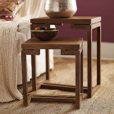 crate and barrel nesting tables coffee tables beautiful crate and barrel bluestone coffee table high