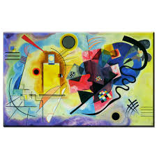 decor painting zz1173 artwork wassily kandinsky classic colorful art canvas poster