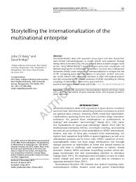 Universities As Multinational Enterprises The Multinational Storytelling The Internationalization Of Pdf Available