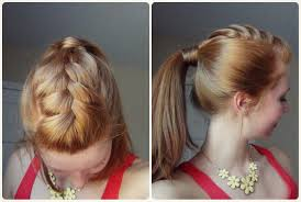 plait at back of head hairstyle spring hairstyle ponytail with french braid youtube