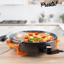 poele electrique cuisine poêle électrique presto 40 cm achat vente poêle sauteuse
