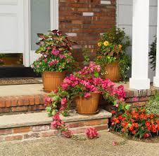64 outdoor steps with flower planters and pots ideas pictures