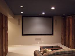 How To Decorate Home Theater Room Minimalist Home Theater Room With Single Sofa And Large Mounted
