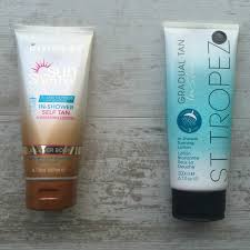 rimmel sunshimmer in shower self tan review and comparison to st