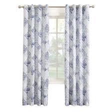 aqua rana print window curtain panel 84 in at home at home