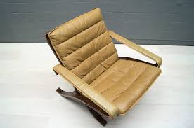 Folding Chair Leather Vintage Leather Folding Chair By Ingmar Relling For Westnofa