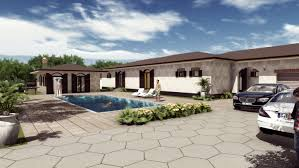3d bungalow house design 3d with swimming pool and garrage youtube