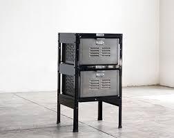 4 x 3 reclaimed locker basket unit with sea foam colored