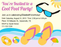 party invitation pool party invitations lovetoknow