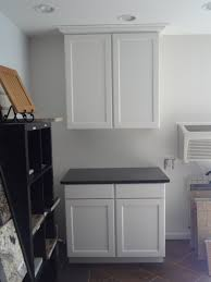 diy unfinished oak kitchen cabinet painted with white color for