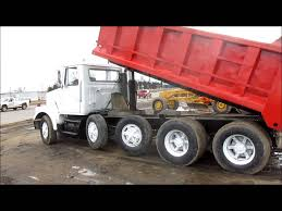 white volvo truck 1984 volvo white dump truck for sale sold at auction april 24