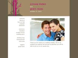 free wedding website free wedding websites dozens of designs to choose from