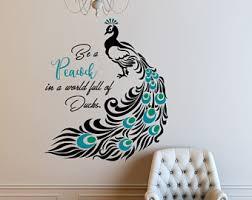 peacock decor etsy