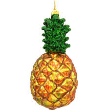 two peas in a pod christmas ornament 5 inch pineapple glass ornament food beverage christmas