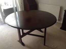 dark wood drop leaf table ercol windsor 610 drop leaf table dark wood finish in yateley