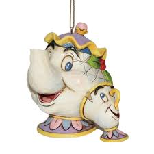 disney discovery shore mrs potts and chip ornament