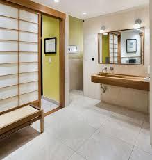 modern bathroom design claw foot slipper bathtub brown floor tile