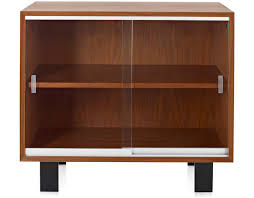 Bookcase Cabinet With Doors Nelson Basic Cabinet With Glass Sliding Doors Hivemodern