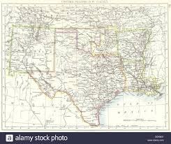 Old Texas Map Usa Sw Central New Mexico Texas Oklahoma Arkansas Louisiana