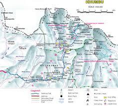 Himalayan Mountains Map Glimpse Sikkim Himalayan Experience