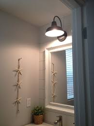 Bathroom Sconces Barn Wall Sconce Lends Farmhouse Look To Powder Room Remake Blog