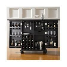 folding home bar wood cabinet wine rack expandable glass holder